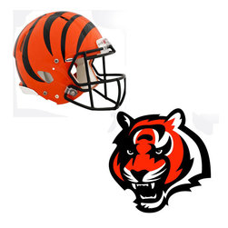 Brewster Home Fashions - NFL Cinncinati Bengals Wall Graphics 5pc Teammate Stickers - FEATURES: