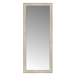 """Posters 2 Prints, LLC - 17"""" x 40"""" Libretto Antique Silver Custom Framed Mirror - 17"""" x 40"""" Custom Framed Mirror made by Posters 2 Prints. Standard glass with unrivaled selection of crafted mirror frames.  Protected with category II safety backing to keep glass fragments together should the mirror be accidentally broken.  Safe arrival guaranteed.  Made in the United States of America"""
