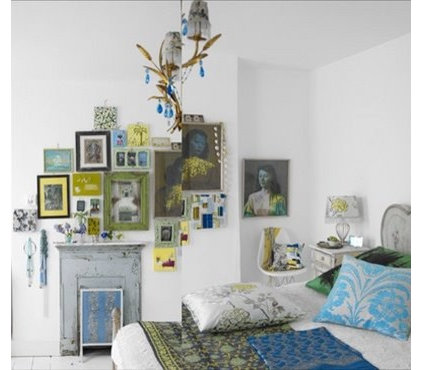 eclectic  Interesting Wall design