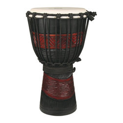 X8 Drums - X8 Drums Red and Black Djembe Drum - X8-DJ-RB-BKP - Shop for Toy Instruments from Hayneedle.com! The X8 Drums Red and Black Djembe Drum is a perfect traveling drum. Even though it is a smaller drum this hand-carved djembe packs a serious punch. And it also packs really well in terms of travel. About X8 DrumsX8 Drums truly walks to the beat of their own drum. This family-owned company is committed to providing the best selection of high-quality musical instruments with an emphasis on world music percussion instruments. X8 Drums has certainly helped champion ethnic hand drums in the digital age thanks to its founders - a New York City rocker and an internet sage.