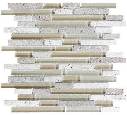 Contemporary Tile by newglasstiles.com