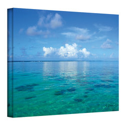 ArtWall - George Zucconi 'Lagoon & Reef' Wrapped Canvas - Artist: George ZucconiTitle: Lagoon & ReefProduct type: Wrapped Canvas