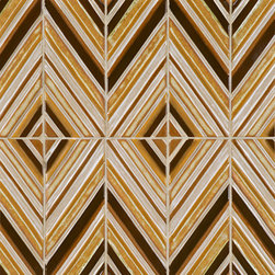 Ceramic Art Tile - Gallery - Ann Sacks Tile & Stone - I just can't get enough of anything chevron, herringbone, or diamond shaped! This tile is no exception. Did I mention I have a penchant for anything 60's or 70's?