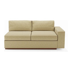 True Modern - Jackson Love 1 arm - Tumbleweed - Are you the type that rearranges your furniture every couple of months? This modular piece is ideal for those that like a change every so often. Pair this modern loveseat with other Jackson sections and keep rearranging to your heart's content.