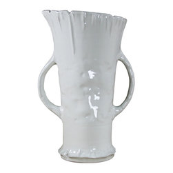 Montes Doggett - Handmade Tall Vase with Handles - This beautiful handmade vase would make a perfect gift for anyone who appreciates fresh flowers. The Peruvian ceramic piece looks equally striking sitting empty as it does filled with fresh flowers. Surprise that special someone with this organic beauty on any occasion and you're sure to make a lasting impression.
