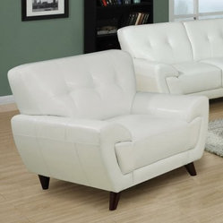 Anton Leather Chair - White