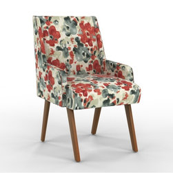 Sven Dining Chair, Landsmeer Red Currant - These gorgeous chairs are like a giant hug. I love the low arms which add comfort but still can fit under any table.