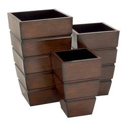 Stylish and Uniquely Designed Metal Planter, Set of 3 - Description: