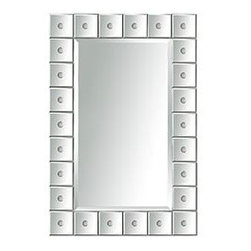 Venetian Dots Mirror - There are mirrors and there are mirrors. And then there are huge dazzling mirrors surrounded by lots of other smaller dazzling mirrors