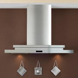 "36"" Pelos 2200 Series Stainless Steel Wall-Mount Range Hood - 900 CFM - Featuring a sleek, stepped design, the 36"" Pelos Series Stainless Steel Wall-Mount Range Hood will coordinate well in a modern kitchen."