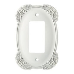 Liberty Hardware - Liberty Hardware 144392 Arboresque WP Collection 3.56 Inch Switch Plate - White - A simple change can make a huge impact on the look and feel of any room. Change out your old wall plates and give any room a brand new feel. Experience the look of a quality Liberty Hardware wall plate. Width - 3.56 Inch, Height - 4.9 Inch, Projection - 0.24 Inch, Finish - White Antique, Weight - 0.35 Lbs.