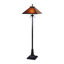 Dale Tiffany - Dale Tiffany Mica Camelot Floor Lamp - TF100176 - Shade Material: Mica