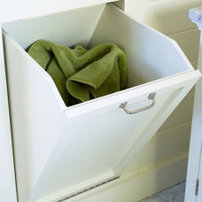 Tilt Out Laundry Bin - Traditional - bathroom - BHG