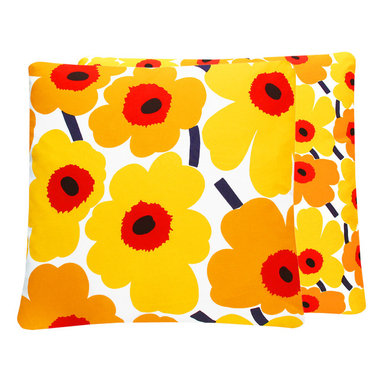 Marimekko Unikko Yellow Floral Throw Pillow l Chloe and Olive - Chloe & Olive