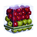 Benzara - Versatile Gift Box in Contemporary Style for Small Apples - If you are planning to gift something unique to your arty friend then this versatile and contemporary gift box with small decorative apples is an ideal option. It is extremely durable and has a long lasting use. It will not only add beauty to the decor of your room but provide utility value as well. It can be placed outdoors to add a touch of elegance to your setting. It is designed with beautiful colors and intricate designs by the skilled artisans. The design of this beautiful decorative piece is originated in China. Give this intricately designed piece to your friend and enjoy the compliments for the choice of gift. It comes with a dimension of 7 in.  H x 7 in.  W x 5 in.  D.