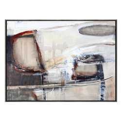 Scandinavian Art Factory - LARGE ARTWORK - Austere and compelling, this Scandinavian abstract study captures the Nordic sensibility. Elegantly framed in silver and black, this thoughtful piece comes signed by the artist, including the artist's biography.