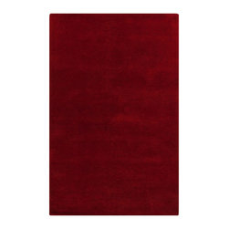 Surya - Plush Cambria 2'x3' Rectangle Venetian Red Area Rug - The Cambria area rug Collection offers an affordable assortment of Plush stylings. Cambria features a blend of natural Venetian Red color. Handmade of 100% New Zealand Wool the Cambria Collection is an intriguing compliment to any decor.