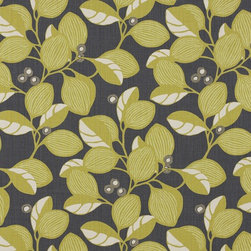 Adelphine Fabric in Wasabi - Understated yet fun, the color combo of charcoal and wasabi would stretch me beyond my comfort zone and force me to add a raspberry or turquoise accent here and there for a little somethin' somethin' extra!