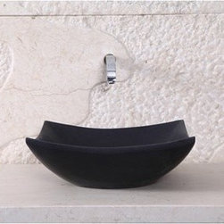 "Virtu USA - Virtu USA Apollo Vessel Sink - Shanxi Black - Providing classic warmth, the Apollo granite vessel basin establishes a sleek, complementary centerpiece to your bathroom vanity. It is transitionally designed to be mounted over the countertop for an elegant and classic appearance. The construction of this natural stone vessel adds enduring strength while maintaining pure elegance that works with many interior styles. Virtu USA uses the finest selection of raw materials to ensure the highest quality product. With a durable glaze to ensure lasting beauty, the Apollo basin makes a sophisticated and practical addition to any bathroom improvement.FeaturesMaximum Dimensions: 15.7"" W x 15.7"" D x 5.5"" HHoned Finish Natural Shanxi Black Granite StoneConstructed natural stone for durability and enduring strengthHoned finish gives a satin-feel, smooth and velvety to the touchHighly resistant to chipping and scratchingWithstands heat for handling extreme temperaturesAdditionally tolerant to extreme temperature changesTransitionally carved to set off a timeless designSeamless 1-piece design for easy cleaning and maintenanceInstalls over the countertop in a freestanding configurationDrain hole template provided for easy installationRequires vessel drain without overflowNo Assembly RequiredLifetime Limited from Virtu USAVirtu USA reserves the right to repair, replace or refund any products resulting from a manufacturer's defect."