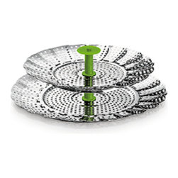"""Kuhn Rikon - Kuhn Rikon 2 in 1 Stackable Steamer 14-22 cm - 2-in-1 steamer Handy collapsible stainless steel two-tier design fits into your Duromatic saving time and trouble. 5.5"""" - 9.5"""""""