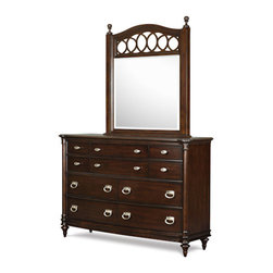 Magnussen Home Furnishings - Drawer Dresser with Shaped Mirror -