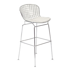 CAD Bar Stool - The minimal nature of this CAD Wire Side Chair is an asset for any lover of modern furniture. A simple yet stylish design evoking the height of modern classic design. As comfortable as it is attractive, this is the sort of accent chair that starts conversations.