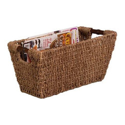 Seagrass Basket W/ Handles - Med - Product Dimensions:  17 in l x 9 in w x 8 in h /43.2 cm l x 22.9 cm w x 20.3 cm h