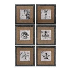 Uttermost - Uttermost Symbols Wall Art Set/6 - 55000 - Uttermost Symbols Wall Art Set/6 - 55000