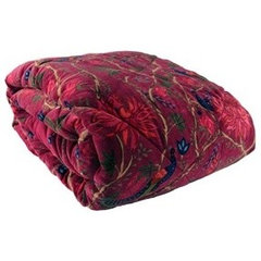 Maroon Velvet Quilt | Throws & Bedspreads at Myakka