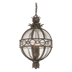 Troy Lighting - Troy Lighting F5008 Campanile 3 Light Outdoor Lantern Pendant - Troy Lighting F5008 Traditional / Classic Three Light Outdoor Hanging Lantern from the Campanile CollectionBeing a Leader in an Industry requires many attributes. Troy Lighting's passion for quality, design, value and service lead the way. Their Team of Lighting Professionals are serious about producing awesome lighting and having a strong, well-run company.  Hand-Forged Iron, Hand Applied Finishes, Glass and Shades that compliment the style are primary ingredients in Troy Lighting products. They take great pride in their engineering and inspection standards that  ensure a quality product. Troy Lighting is committed to providing quality high styled products, at reasonable prices, backed with the highest standard of service.Features: