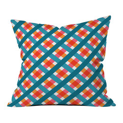 Caroline Okun Franklin Outdoor Throw Pillow - Do you hear that noise? it's your outdoor area begging for a facelift and what better way to turn up the chic than with our outdoor throw pillow collection? Made from water and mildew proof woven polyester, our indoor/outdoor throw pillow is the perfect way to add some vibrance and character to your boring outdoor furniture while giving the rain a run for its money.