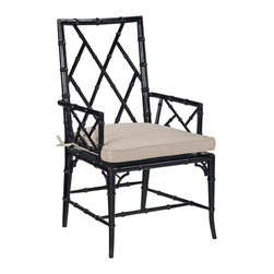 EuroLux Home - New Faux Bamboo Dining Arm Chair Consigned Antique - Product Details
