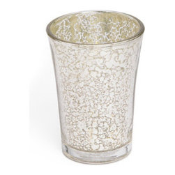 Grandin Road - Vizcaya Mercury Tumbler - Round, tapered mercury glass drinking tumbler. Crafted from sparkling, double-walled mercury glass. Hand wash with mild soap and water. Accent your beautiful bath or powder room with the sparkling elegance of the mercury glass Vizcaya tumbler beside your bathroom sink. The tumbler is a practical accessory, great for a quick drink of water or for taking medication, and this brilliant version will make these everyday experiences shine with the reflective style of double-walled mercury glass. Complete the spectacular look with a complete collection of shining, versatile Vizcaya bath accessories.. . . Imported.