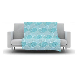 """Kess InHouse - Nick Atkinson """"Ocean Swirl"""" Teal Green Fleece Blanket (30"""" x 40"""") - Now you can be warm AND cool, which isn't possible with a snuggie. This completely custom and one-of-a-kind Kess InHouse Fleece Throw Blanket is the perfect accent to your couch! This fleece will add so much flare draped on your sofa or draped on you. Also this fleece actually loves being washed, as it's machine washable with no image fading."""