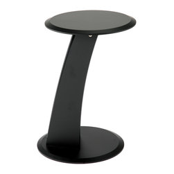 Euro Style - Mushroom Table - It's all about the shape. As a side table the Mushroom can take on a number of different looks. From one angle, it's a simple curve acting as the leg of a 15-inch top. From another, you see the additional vertical support for a more arresting appearance. The Mushroom works in any room.