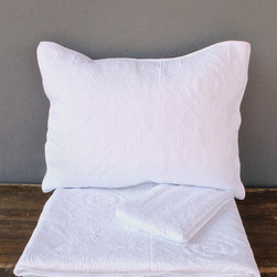 hearst white coverlet set – full/queen - view this item on our website for more information + purchasing availability: http://redinfred.com/shop/category/free-shipping/hearst-white-coverlet-set-fullqueen/