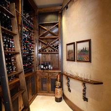 Mediterranean Wine Cellar by Creative Touch Interiors