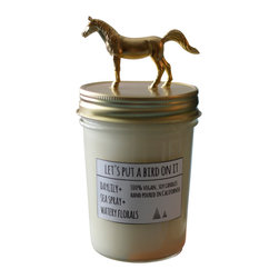 Let's Put a Bird On It - Gold Horse Soy Candle- Daylily + Sea Spray + Watery Florals - ABOUT THIS SCENT: