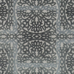 """Loloi Rugs - Loloi Rugs Alexi Collection - Grey / Pewter, 5'-0"""" x 7'-6"""" - The Alexi Collection from India has the perfect mix of textural detail, beautiful coloration, and soft 100% wool fiber. Featuring truly transitional patterns, Alexi can blend seamlessly with a range of interiors. And thanks to its hooked and hand tufted construction, each piece offers high low dimension."""