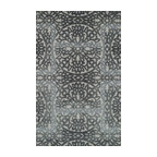"""Loloi Rugs - Loloi Rugs Alexi Collection, Grey and Pewter, 5'-0""""x7'-6"""" - The Alexi Collection from India has the perfect mix of textural detail, beautiful coloration, and soft 100% wool fiber. Featuring truly transitional patterns, Alexi can blend seamlessly with a range of interiors. And thanks to its hooked and hand tufted construction, each piece offers high low dimension."""