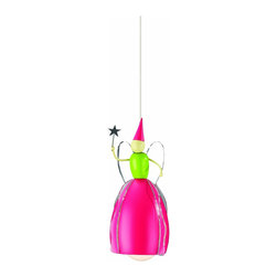 Philips KidsPlace Fairy Godmother Pendant Light, Multi-Colored - This fairy godmother light pendant will watch over little ones, making them feel safe and secure as they fall asleep. Brightly colored and whimsical, this fixture is made using child-safe and environmentally ethical materials.
