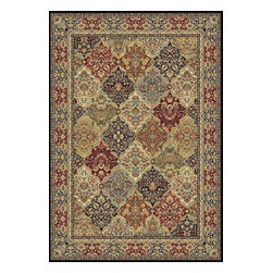 "Dynamic - Ancient Garden 31"" Runner Traditional Stair Runner - Stair & Hallway Runners Are Sold By The Linear Foot!  Quantity 1 = 1 Linear Ft  All Sides Are Finished   Anc't Gard 57008-3333 31"