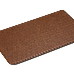 "Imprint Comfort Mats - Imprint Cumulus9 Comfort Mat 26 X 48, Toffee Brown, 26"" X 48"", Cobblestone - Number One Consumer Rated Anti Fatigue Comfort Mat.   Sink your feet into the Cumulus9 with its proprietary Multi-Core Technology. Feel how it conforms to the shape of your feet and supports your arches for relief of back, leg and foot discomfort. The advantage is its proprietary multilayer cushioning system. The soft, upper layer luxuriously cushions your feet while the firm, lower layer provides soothing support. You will want an Imprint Comfort Mat everywhere you work and stand - kitchen, laundry, bathroom, garage, workshop and more. University tested and proven by the Center for Ergonomics to reduce overall fatigue and discomfort by up to 60%. No-curl edges and stay-flat memory ensure Imprint Mats will not  curl like other mats. Environmentally friendly, non-toxic and phthalate free .Safe for children and pets. 7-year warranty. 100% satisfaction guarantee."
