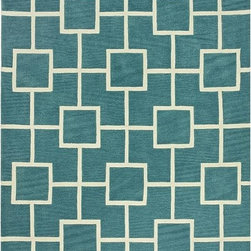 Home Decorators Collection - Port Area Rug - Our two-tone Port Area Rug features a lattice of squares and rectangles. With its transitional design and plush pile, this patterned rug is part of our New Town Collection. Constructed of durable synthetics. Hand tufted for a thick, sumptuous pile.
