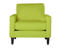 Apt2B - The Clark Chair, Chartreuse - This handsome sofa collection will never go out of style. With a low profile and comfortable seat, this classic silhouette will be a staple in your room for years to come. Each piece is expertly handmade to order in the USA and takes around 2-3 weeks in production. Features a solid hardwood frame and upholstered in a 100% polyester fabric.
