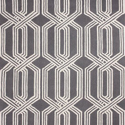 nuLOOM - Contemporary 5' x 8' Grey Hand Hooked Area Rug Trellis BC67 - Made from the finest materials in the world and with the uttermost care, our rugs are a great addition to your home.