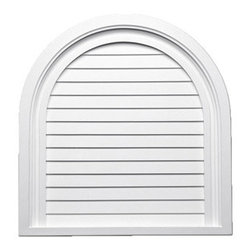 "Inviting Home - Full Round Top Louvers - 20""W - round top decorative louvers 20""W x 21""H x 1-3/16""D Decorative louvers specifications: decorative louvers designed for exterior application. Outstanding durability decorative louvers are made of high density polyurethane. These decorative louvers are lightweight durable and easy to install using common woodworking tools and can be finished with any quality paints."