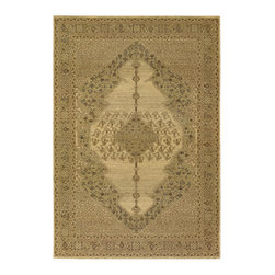 """Couristan - Timeless Treasures Diamond Sarouk Rug 4454/0066 - 4'6"""" x 6'6"""" - Because these area rugs contain such exquisite detail, other patterns showcased in your room-setting should be represented on a smaller scale. Choose a secondary color found in your area rug and complement it with your wall paint or use pillows and fabrics that are similar. Layering colors and textures makes your interior decor feel cohesive and well thought out."""