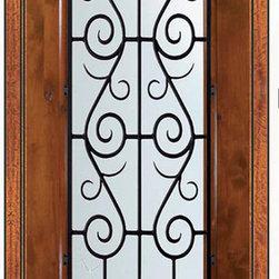 "Prehung Single Door 96 Wood Alder St. Charles 3/4 Lite Wrought Iron - SKU#E18662WS-G-WE834SC1SCBrandGlassCraftDoor TypeExteriorManufacturer Collection3/4 Lite Entry DoorsDoor ModelSt. CharlesDoor MaterialWoodWoodgrainKnotty AlderVeneerPrice2580Door Size Options  +$percentCore TypeDoor StyleDoor Lite Style3/4 LiteDoor Panel Style1 PanelHome Style MatchingDoor ConstructionEstanciaPrehanging OptionsPrehungPrehung ConfigurationSingle DoorDoor Thickness (Inches)1.75Glass Thickness (Inches)Glass TypeDouble GlazedGlass CamingGlass FeaturesLow-E , TemperedGlass StyleGlass TextureWater , Flemish , Baroque , Fluted , Rain , Glue Chip , ClearGlass ObscurityLight Obscurity , Moderate Obscurity , Highest Obscurity , No ObscurityDoor FeaturesDoor ApprovalsWind-load Rated , SFI , TCEQ , AMD , NFRC-IG , IRC , NFRC-Safety GlassDoor FinishesDoor AccessoriesWeight (lbs)369Crating Size25"" (w)x 108"" (l)x 52"" (h)Lead TimeSlab Doors: 7 Business DaysPrehung:14 Business DaysPrefinished, PreHung:21 Business DaysWarrantyOne (1) year limited warranty for all unfinished wood doorsOne (1) year limited warranty for all factory?finished wood doors"