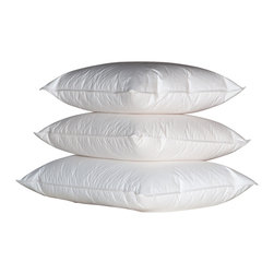Ogallala Comfort Company - Ogallala Comfort Company Double Shell 800 Hypo-Blend Soft Pillow, Standard - Our Hypodown blend is four parts white goose down and one part Syriaca clusters, a fiber from the milkweed plant. The two work hand in hand to give you the best of their natural abilities: warmth and comfort. Down clusters are the soft fluff under feathers that keep birds comfortable no matter what the climate. In order to measure nature's performance, down is rated by two distinct values, Percent Down Cluster and Fill Power. Syriaca clusters trap and suppress allergens.